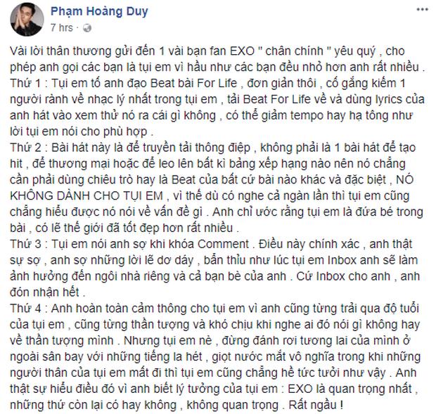 Fan Kpop dậy sóng vì chia sẻ nặng nề từ nhạc sĩ Phạm Hoàng Duy sau nghi vấn đạo nhạc tại Sing My Song - Ảnh 4.
