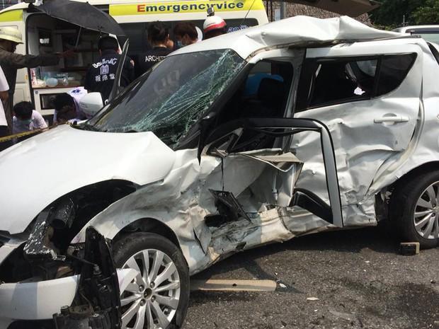 Sinh cùng ngày, cùng tháng, cùng năm, cặp đôi trẻ Thái Lan qua đời cùng lúc sau vụ đụng xe kinh hoàng - Ảnh 3.