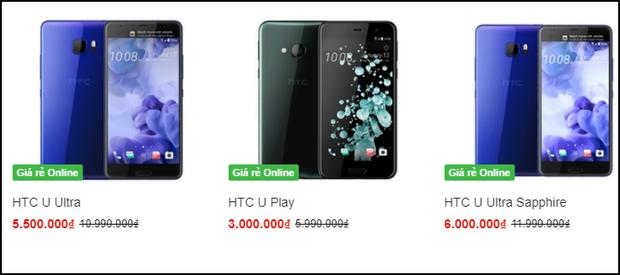 HTC U đang giảm giá cực mạnh: năm ngoái có giá gần 20 triệu, nay chỉ còn 3-6 triệu đồng - Ảnh 1.