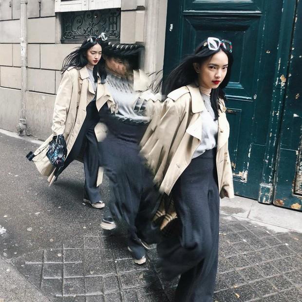Khoe ảnh selfile tại Paris, Châu Bùi đụng ngay kính Gucci với Chi Pu - Ảnh 1.