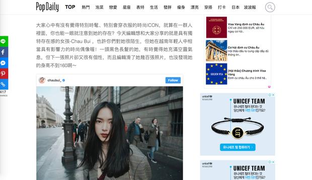 Châu Bùi được trang tin dành cho giới trẻ Đài Loan khen hết lời vì mặc quá chất - Ảnh 2.