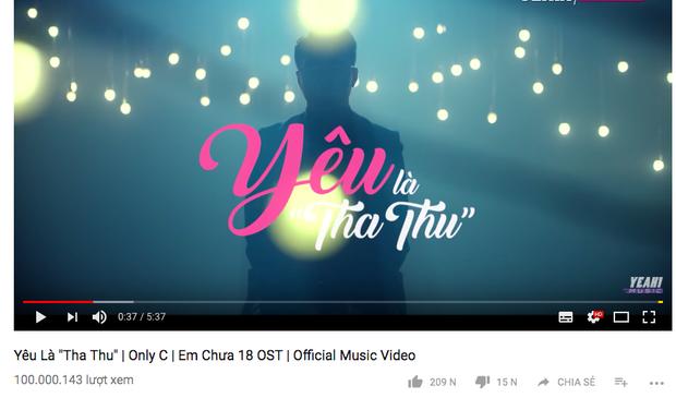 Yêu là tha thu trở thành MV nhạc phim thứ hai cán mốc trăm triệu lượt xem trên Youtube - Ảnh 1.