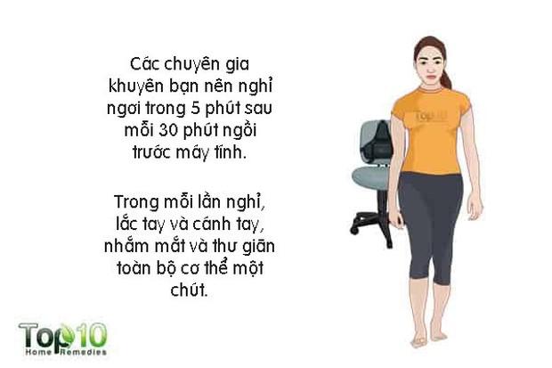 Làm thế nào để ngăn ngừa hoặc giảm đau cổ, đau vai khi làm việc? - Ảnh 7.
