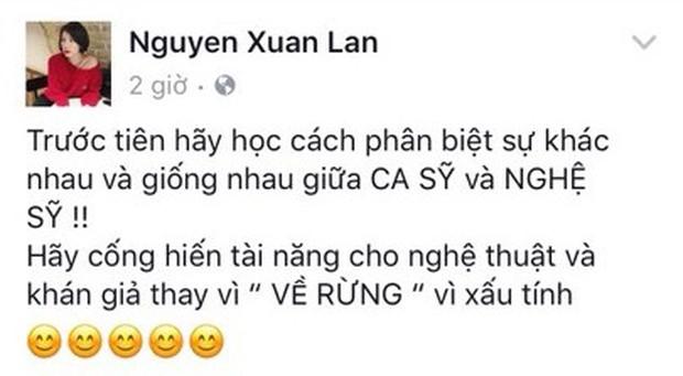 Xuân Lan dằn mặt Á quân Vietnam Idol 2012 xấu tính vì cố tình phát ngôn gây sốc - Ảnh 1.
