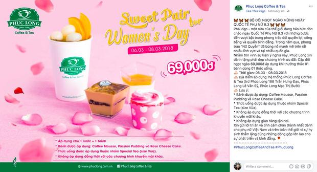 8/3: nhiều quán ăn không chỉ tặng hoa mà còn giảm giá dành riêng cho con gái - Ảnh 19.