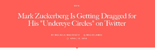 Bị soi đủ thứ, giờ đến cả quầng thâm mắt của Mark Zuckerberg cũng được dân tình tư vấn xem nên dưỡng như thế nào - Ảnh 3.