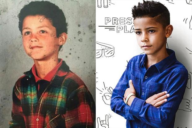 Các ngôi sao và những người con giống nhau không thể lẫn được khi so ảnh ở cùng độ tuổi - Ảnh 31.