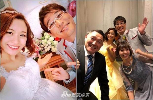 Bà xã Piko Taro (PPAP) ôm bụng bầu 8 tháng mặc váy cưới, táo và dứa trở thành vật trang trí trong hôn lễ - Ảnh 2.