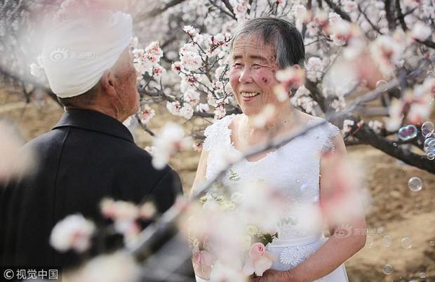 Xúc động với bộ ảnh cưới của cặp đôi U90: Hạnh phúc là khoảnh khắc tay trong tay cùng nhau tới đầu bạc răng long - Ảnh 1.