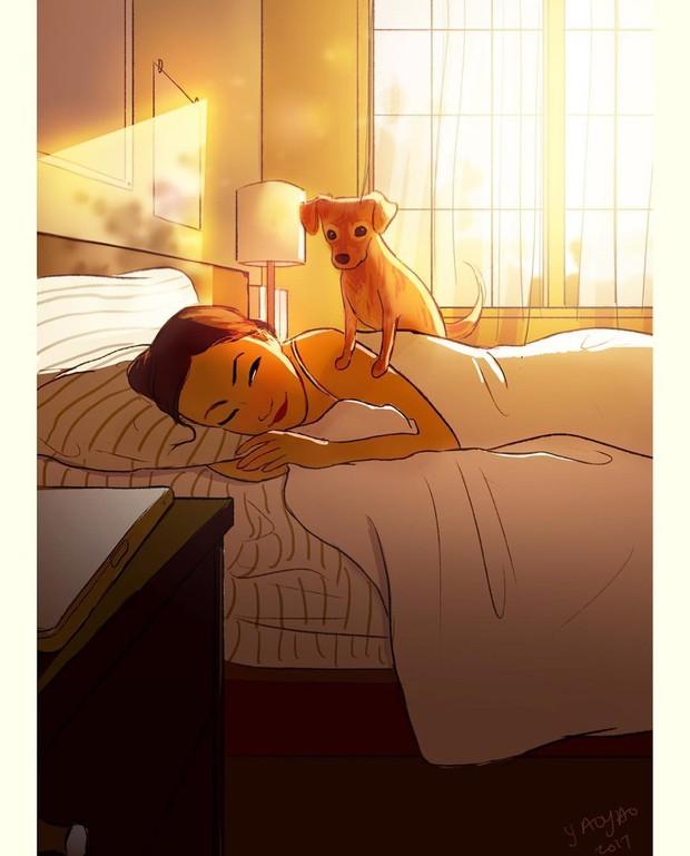 Bộ ảnh: Đôi khi điều bạn cần để có cuộc sống hạnh phúc chẳng phải điều gì cao sang mà chỉ là một chú chó - Ảnh 2.