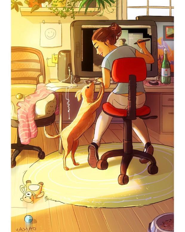 Bộ ảnh: Đôi khi điều bạn cần để có cuộc sống hạnh phúc chẳng phải điều gì cao sang mà chỉ là một chú chó - Ảnh 7.