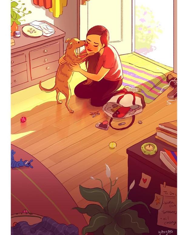 Bộ ảnh: Đôi khi điều bạn cần để có cuộc sống hạnh phúc chẳng phải điều gì cao sang mà chỉ là một chú chó - Ảnh 10.