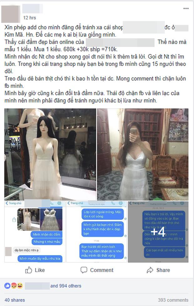 Đặt đầm thiết kế trên mạng, người phụ nữ ngậm ngùi nhận về chiếc váy như vải màn, yêu cầu đổi trả thì bị shop block thẳng tay - Ảnh 1.