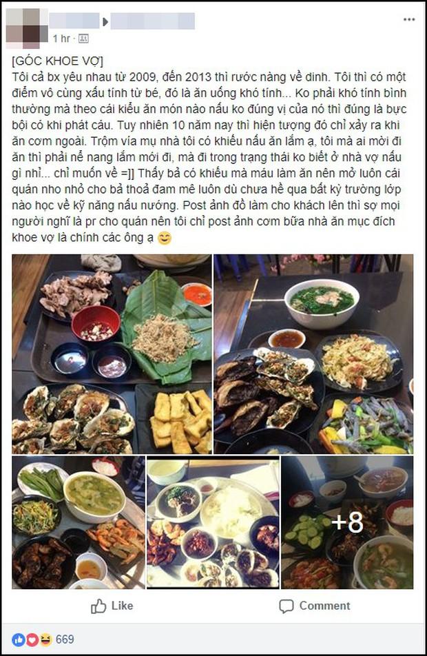 Anh chồng số hưởng khoe đi đâu cũng mong về nhà xem vợ nấu món gì, mở hẳn quán ăn để vợ thể hiện tài năng - Ảnh 1.