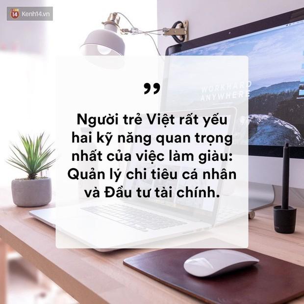 Người trẻ Việt yếu nhất hai kỹ năng quan trọng nhất của việc làm giàu: Quản lý chi tiêu cá nhân và đầu tư tài chính! - Ảnh 1.