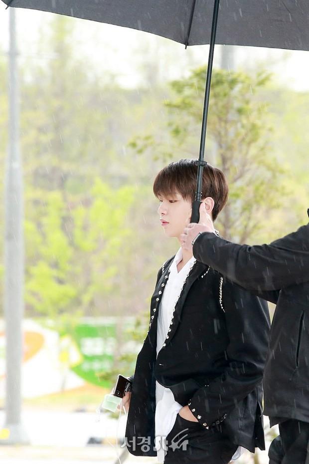 Cực phẩm dưới mưa: Jung Chae Yeon đẹp lộng lẫy cùng I.O.I, dàn hoàng tử Wanna One đến ủng hộ Produce 48 - Ảnh 1.