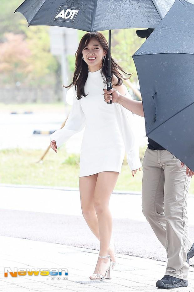 Cực phẩm dưới mưa: Jung Chae Yeon đẹp lộng lẫy cùng I.O.I, dàn hoàng tử Wanna One đến ủng hộ Produce 48 - Ảnh 29.