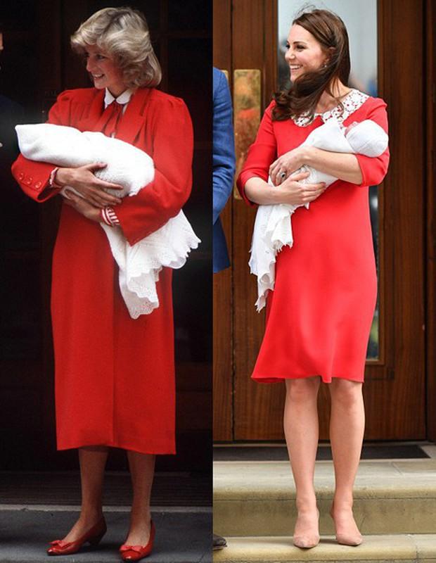 Không phải ngẫu nhiên mà Công nương Kate lại chọn đầm đỏ trong buổi diện kiến công chúng sau sinh - Ảnh 7.