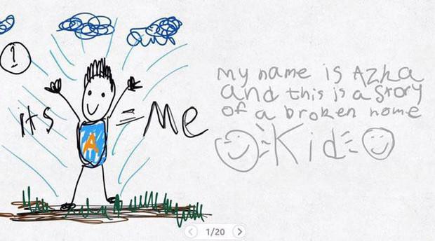 Xúc động nghẹn ngào trước bộ tranh nguệch ngoạc do cậu bé 6 tuổi vẽ lại toàn bộ quá trình li hôn của bố mẹ - Ảnh 1.