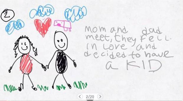 Xúc động nghẹn ngào trước bộ tranh nguệch ngoạc do cậu bé 6 tuổi vẽ lại toàn bộ quá trình li hôn của bố mẹ - Ảnh 2.