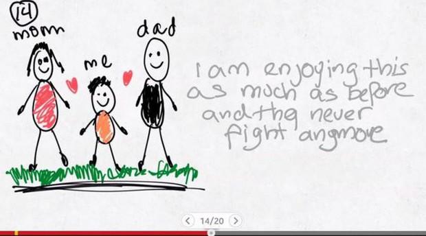 Xúc động nghẹn ngào trước bộ tranh nguệch ngoạc do cậu bé 6 tuổi vẽ lại toàn bộ quá trình li hôn của bố mẹ - Ảnh 14.