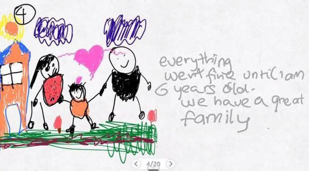 Xúc động nghẹn ngào trước bộ tranh nguệch ngoạc do cậu bé 6 tuổi vẽ lại toàn bộ quá trình li hôn của bố mẹ - Ảnh 4.