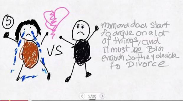 Xúc động nghẹn ngào trước bộ tranh nguệch ngoạc do cậu bé 6 tuổi vẽ lại toàn bộ quá trình li hôn của bố mẹ - Ảnh 5.