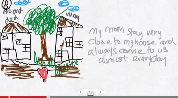 Xúc động nghẹn ngào trước bộ tranh nguệch ngoạc do cậu bé 6 tuổi vẽ lại toàn bộ quá trình li hôn của bố mẹ - Ảnh 8.