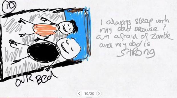 Xúc động nghẹn ngào trước bộ tranh nguệch ngoạc do cậu bé 6 tuổi vẽ lại toàn bộ quá trình li hôn của bố mẹ - Ảnh 10.