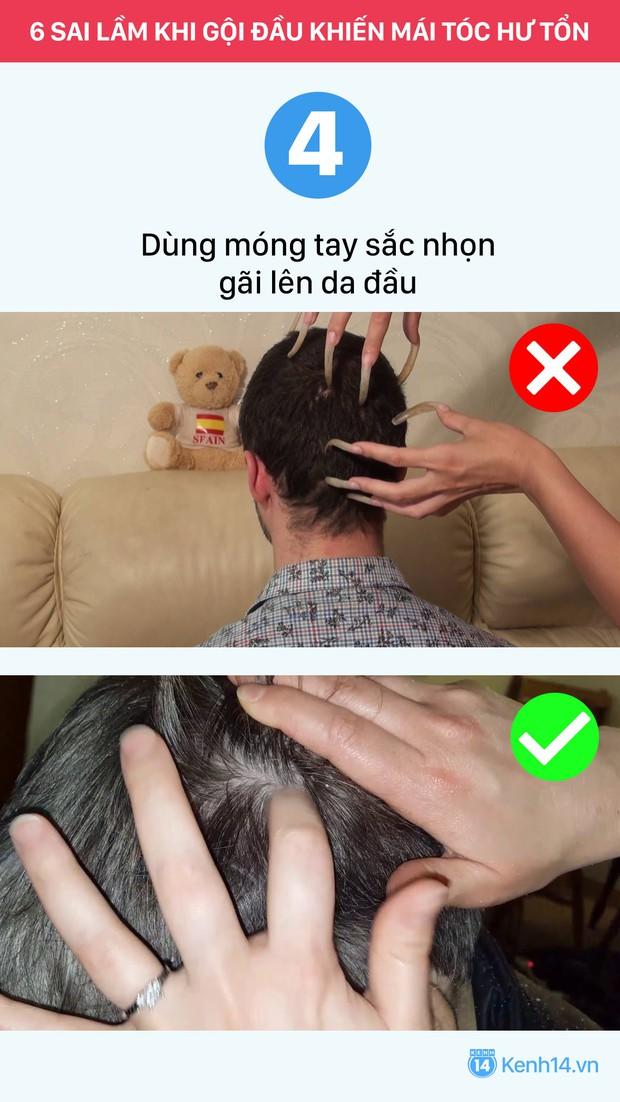 Sai lầm thường gặp khi gội đầu chỉ khiến mái tóc nhanh hư tổn - Ảnh 6.
