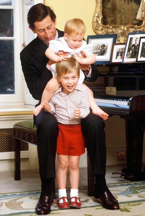 Những bức ảnh gắn liền với thời thơ ấu của bộ đôi Hoàng tử William và Harry - Ảnh 1.