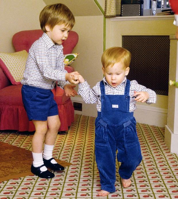 Những bức ảnh gắn liền với thời thơ ấu của bộ đôi Hoàng tử William và Harry - Ảnh 2.