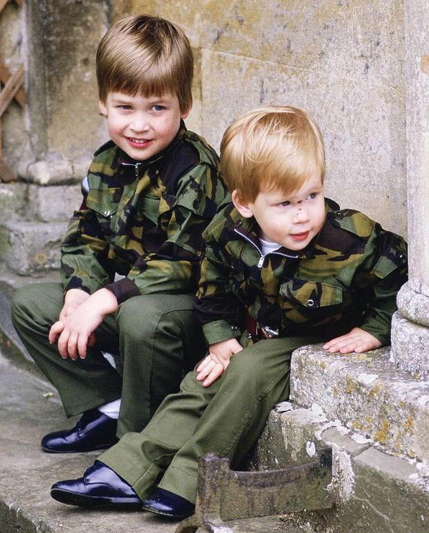Những bức ảnh gắn liền với thời thơ ấu của bộ đôi Hoàng tử William và Harry - Ảnh 3.