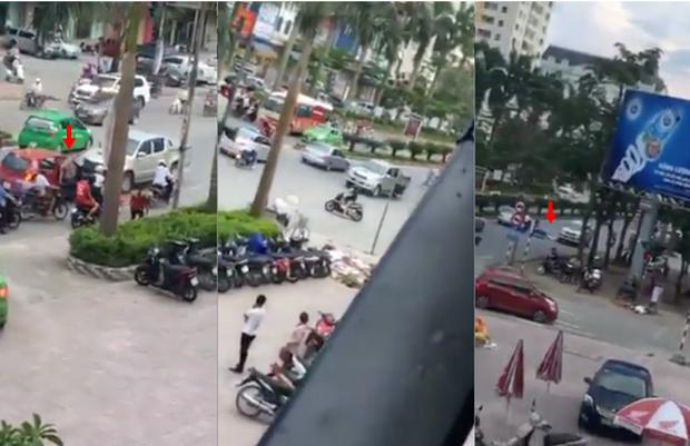Nghệ An: Xe bán tải đi ngược chiều rồi hung hăng gây sự với xe khác, sau đó chạy lùi đâm trúng một bà cụ - Ảnh 2.