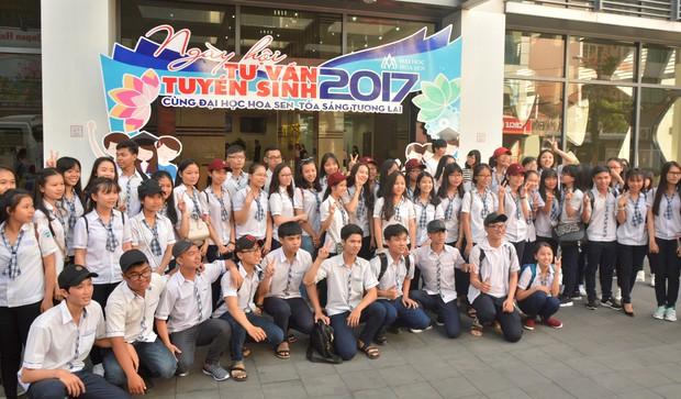 Ngày hội tư vấn tuyển sinh tại trường Đại học Hoa Sen - Ảnh 1.
