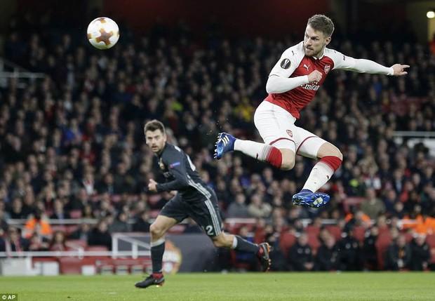 Ramsey lập cú đúp, Arsenal đặt một chân vào bán kết Europa League - Ảnh 7.