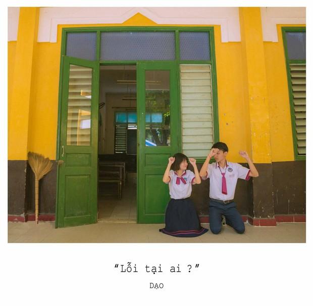 Tan chảy với bộ ảnh Gửi thời đẹp đẽ đơn thuần của chúng ta phiên bản Việt của cặp đôi trường Trưng Vương - Ảnh 1.