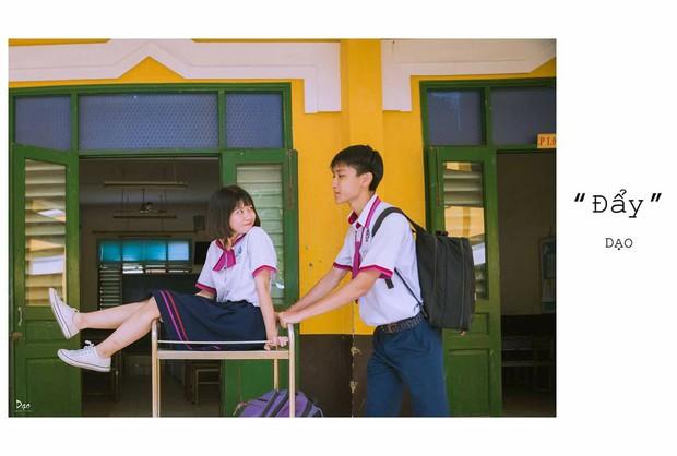 Tan chảy với bộ ảnh Gửi thời đẹp đẽ đơn thuần của chúng ta phiên bản Việt của cặp đôi trường Trưng Vương - Ảnh 12.
