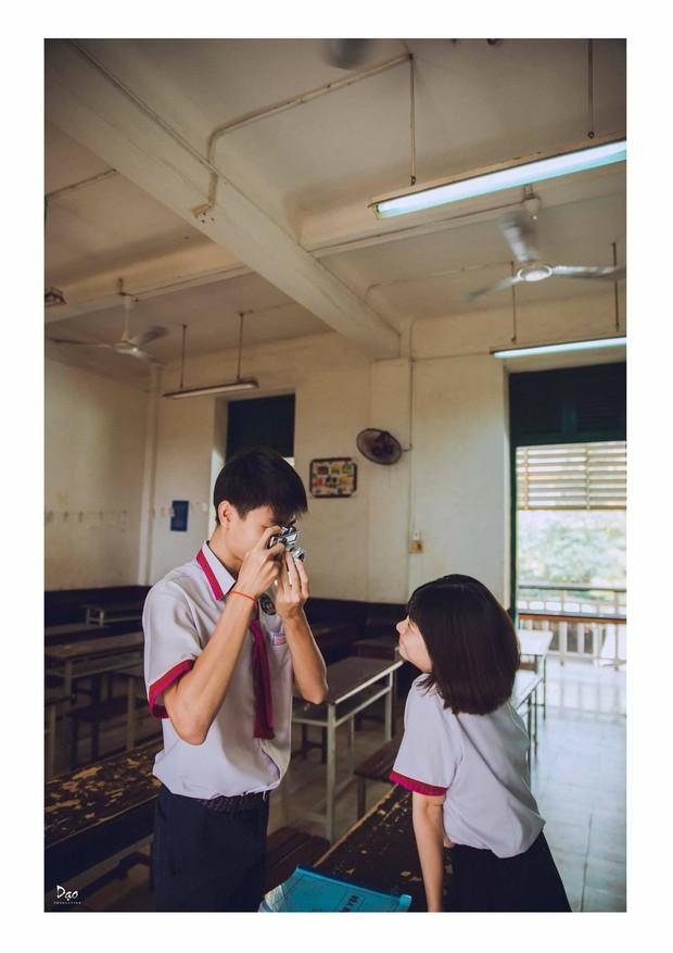 Tan chảy với bộ ảnh Gửi thời đẹp đẽ đơn thuần của chúng ta phiên bản Việt của cặp đôi trường Trưng Vương - Ảnh 14.