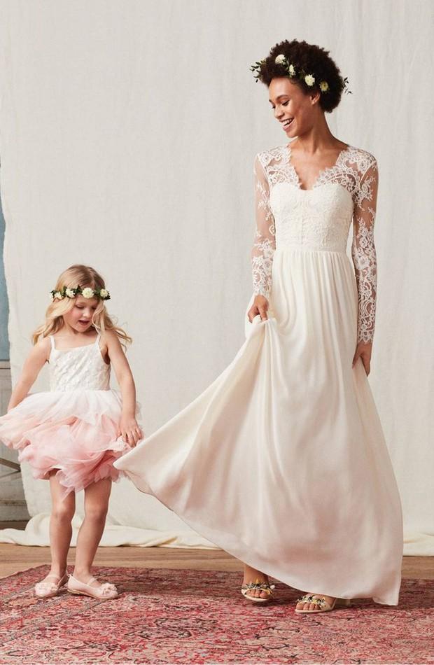 Mê chiếc váy cưới xa xỉ của Công nương Kate, các cô dâu tương lai đã có lựa chọn bình dân hơn từ BST mới nhất của H&M  - Ảnh 4.