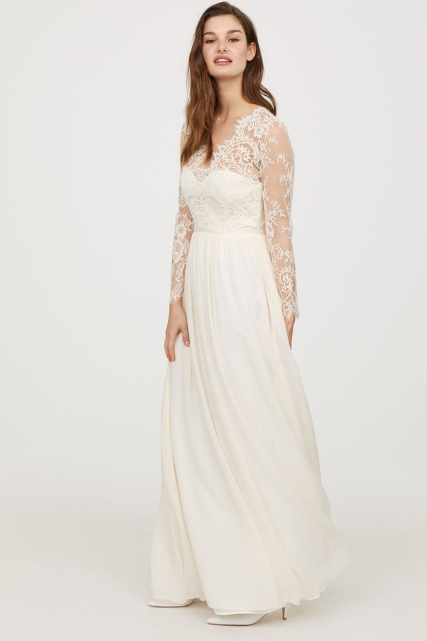 Mê chiếc váy cưới xa xỉ của Công nương Kate, các cô dâu tương lai đã có lựa chọn bình dân hơn từ BST mới nhất của H&M  - Ảnh 5.