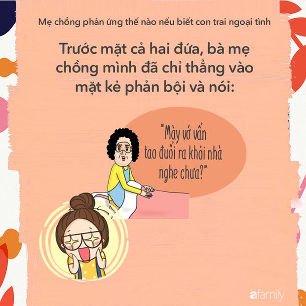 Khi hay tin con trai ngoại tình, thử đoán xem các bà mẹ chồng phản ứng như thế nào? - Ảnh 1.