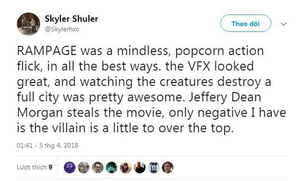 Phim về quái thú khổng lồ Rampage của The Rock được giới phê bình ca ngợi hết lời - Ảnh 2.