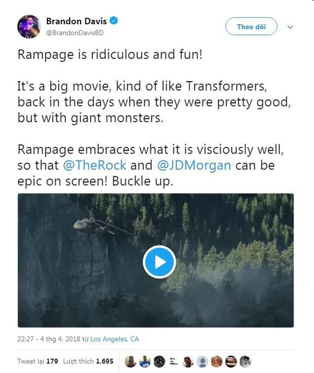 Phim về quái thú khổng lồ Rampage của The Rock được giới phê bình ca ngợi hết lời - Ảnh 3.