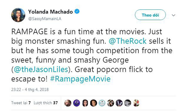 Phim về quái thú khổng lồ Rampage của The Rock được giới phê bình ca ngợi hết lời - Ảnh 6.