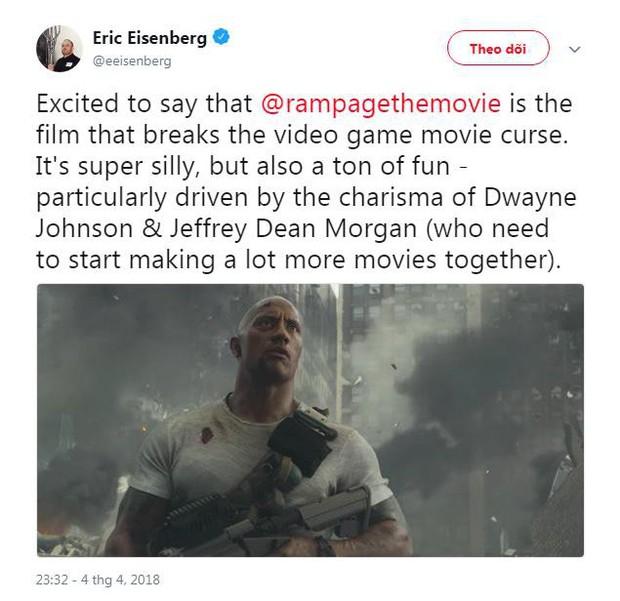 Phim về quái thú khổng lồ Rampage của The Rock được giới phê bình ca ngợi hết lời - Ảnh 7.