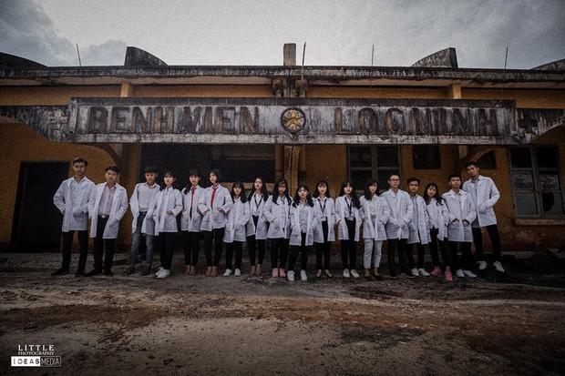 Bộ ảnh kỷ yếu rùng rợn chụp trong bệnh viện bỏ hoang của nhóm học sinh Bình Phước - Ảnh 13.
