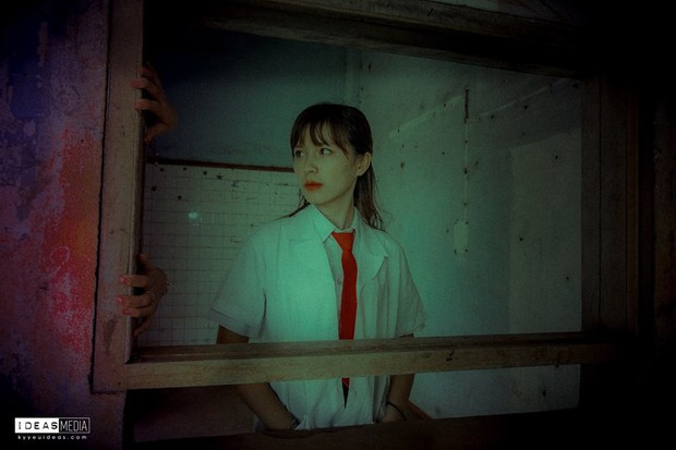 Bộ ảnh kỷ yếu rùng rợn chụp trong bệnh viện bỏ hoang của nhóm học sinh Bình Phước - Ảnh 9.