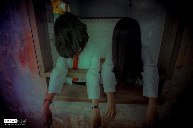 Bộ ảnh kỷ yếu rùng rợn chụp trong bệnh viện bỏ hoang của nhóm học sinh Bình Phước - Ảnh 7.