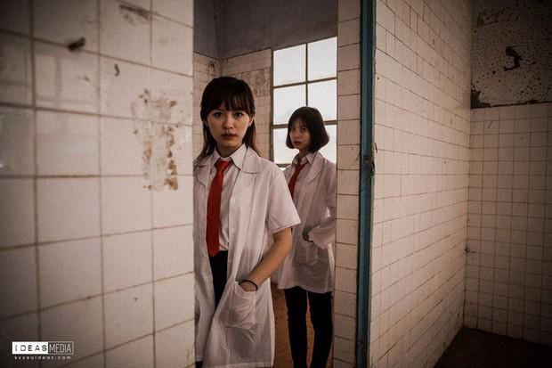 Bộ ảnh kỷ yếu rùng rợn chụp trong bệnh viện bỏ hoang của nhóm học sinh Bình Phước - Ảnh 5.